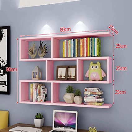 Amazon.com: Storage Racks Shelf Bookshelf Wall-Mounted Wall ...