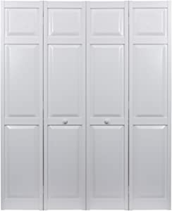 "LTL Home Products SEAPP48 Seabrooke PVC Raised Panel Interior Bifold Door (2 Pack), 78.625"" x 23.5"", White"