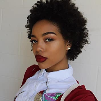 Dreambeauty Short Afro Kinky Curly Human Hair Wigs 100 Brazilian Remy Human Hair Short Kinky