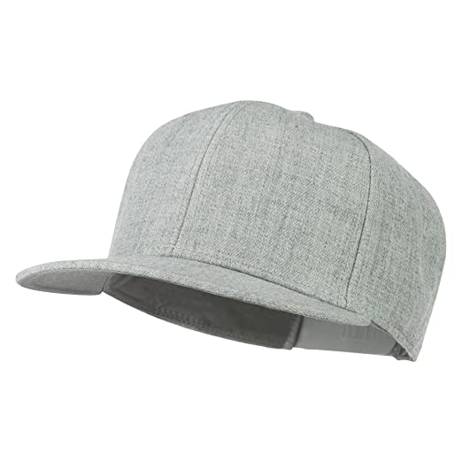 6c706cf0a5d23 Image Unavailable. Image not available for. Color  Heather Wool Blend Flat  Bill Snapback Two Tone Cap ...
