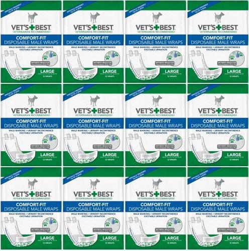 Vet's Best Comfort-Fit Disposable Male Wrap Large 144ct