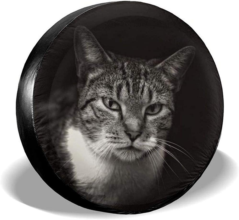 Gouzi Wheel Cover Animal Cat Images Spare Wheel Tire Cover Universal Weatherproof 17 Inch