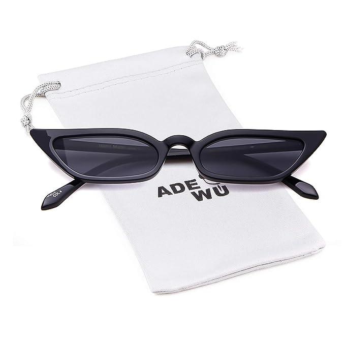 ADEWU Gafas de sol ojo de gato Gafas rectangulares vintage ...