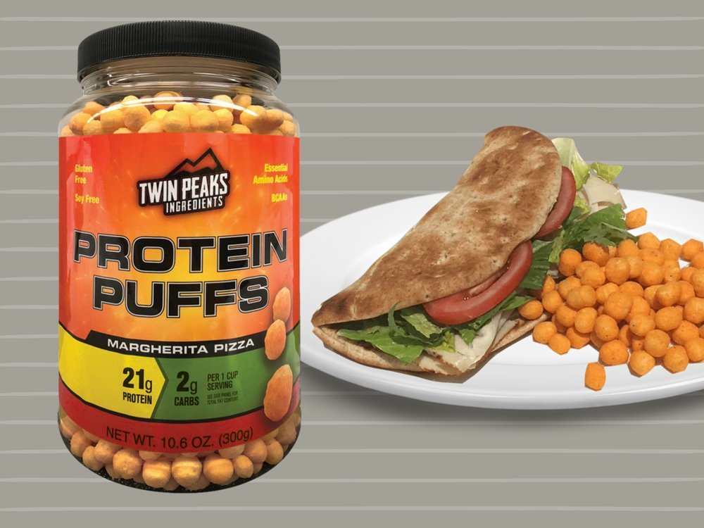 Twin Peaks Ingredients Protein Puffs - Margherita Pizza 300g (10 Servings), 21g Protein, 2g Carbs, 120 Cals, High Protein, Low Carb, Soy Free, Gluten Free, Potato Free - Best Protein Snack by Twin Peaks Ingredients (TPI) (Image #6)