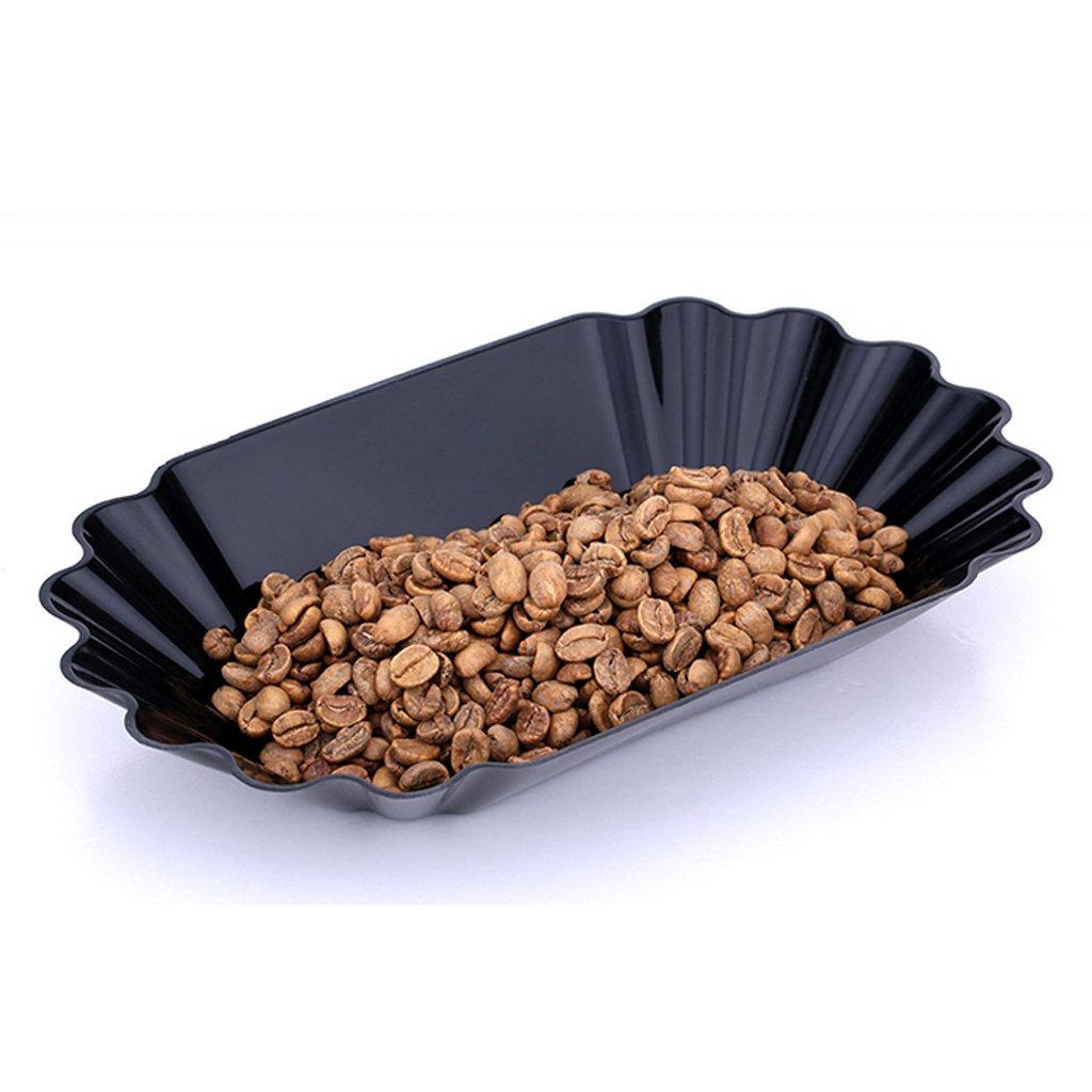 Schwarz 22.3x13x3.5cm LOVIVER Kaffee Schr/öpfen Probenteller Oval Tray F/ür Gr/üne Und Ger/östete
