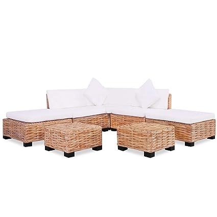Tidyard Conjunto Muebles de Jardín de Ratán 18 Piezas Sofa ...