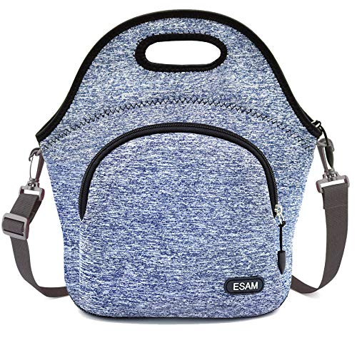 Neoprene Lunch Bag Insulated Lunch Bag Boxes for Adults Men Women Kids Boys Nurses Teens with Shoulder Strap and Extra Pocket