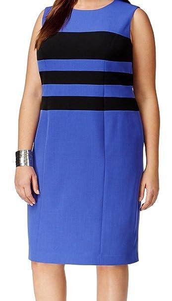 Kasper Women\'s Plus Size Colorblock Dress at Amazon Women\'s ...