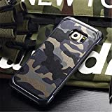 For S6 EDGE 5.1inch,DAYJOY Camouflage Style Cool Design Armor Shield Shockproof Rubber Silicone TPU+ PC Soft Protective Bumper Case Cover Shell for Samsung Galaxy S6 EDGE(BLUE)