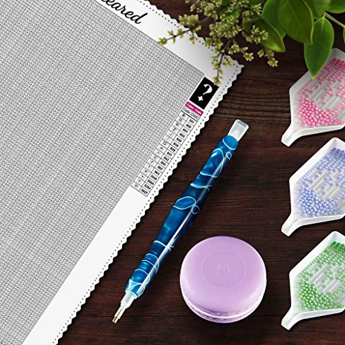 CATEARED Mystery Diamond Painting Kit, Mystery Rhinestone Set with Resin Drill Pen and Macaron Wax Paint by Numbers DIY Gifts for Adults and Kids (Square Drills, Random Size)