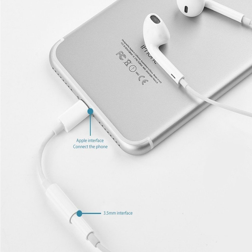 Connector AUX Female Audio Earphone Stereo Cable with iPhone 11 Pro Xs Max XR X 8 7 6 Plus Support iOS 11 iOS 12 13 Apple MFi Certified Lightning to 3.5mm Headphone Jack Adapter for iPhone