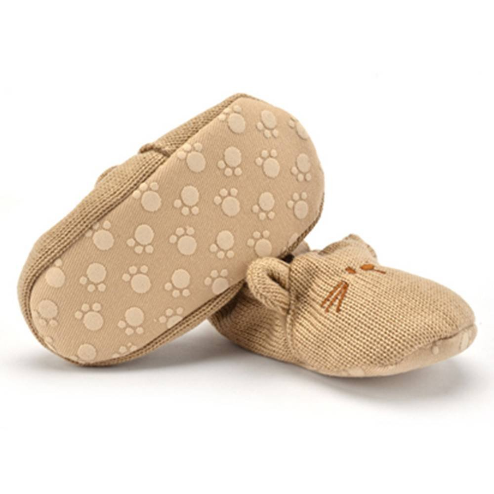 Xinghan Baby Boys Girls Wool Animal Shape Anti-Slip Soft Sole Toddler Shoes