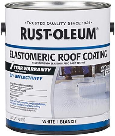 Rust Oleum 301904 7 Year Elastomeric Roof Coating White Gal Amazon Com