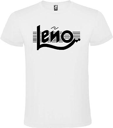 ROLY Camiseta Blanca con Logotipo de Leño Hombre 100% Algodón Tallas S M L XL XXL Mangas Cortas: Amazon.es: Ropa y accesorios