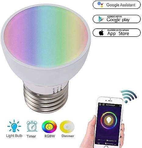 Bombilla LED inteligente, Wi-Fi de luz, bombillas LED multicolor ...