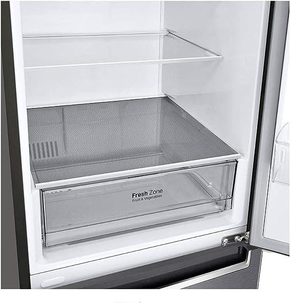 LG GBP31DSLZN nevera y congelador Independiente Grafito 384 L A++ ...
