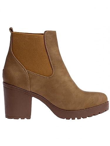 Caspar SBO045 Botines de Plataforma Vintage para Mujer: Amazon.es: Zapatos y complementos