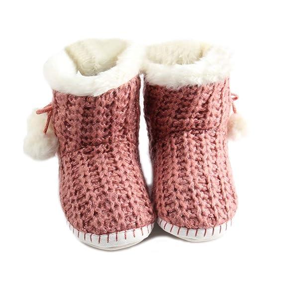 RegbKing Zapatillas Calientes Antideslizantes Suelas Suaves Zapatillas De Fieltro La Máquina De Algodón De Punto Para Interiores/Invierno Se Puede Lavar ...