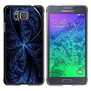 Paccase / SLIM PC / Aliminium Casa Carcasa Funda Case Cover para - Blue Abstract - Samsung GALAXY ALPHA G850