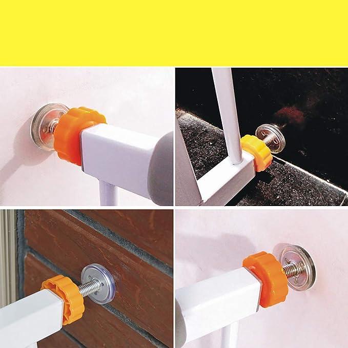 4 tornillos para puerta de escalera montados redondos M10 tornillos para puertas de beb/é varillas de husillo roscadas para pasear a trav/és de accesorios para puertas de seguridad de beb/és y mascota