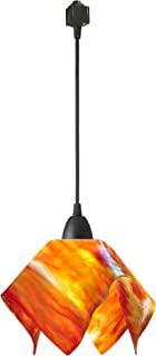 product image for Jezebel Signature Flame Track Lighting Pendant Small. Hardware: Brown. Glass: Zinnia