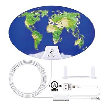 Buy Indoor Amplified Tv Antenna Antop Digital Hdtv Antenna 50 Mile