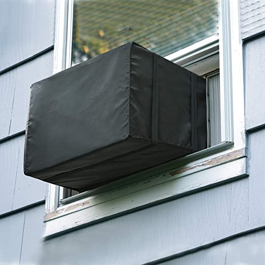 Vinyl Outside Window Air Conditioner Cover for Small Units Up to 7,000 BTU