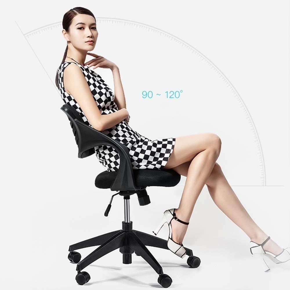 THBEIBEI Kontorsstol svängbar stol spelstol datorstol uppgift skrivbordsstol avslappnad sittstol båge ryggstöd andningsbar nät bärande vikt 200 kg 4 färger (färg: Grå vit) grå vit
