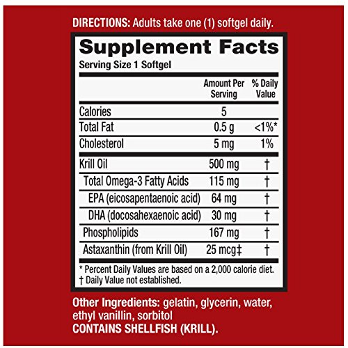 MegaRed 500mg Extra Strength Omega-3 Krill Oil, 40 softgels (Pack of 7) by Schiff (Image #6)