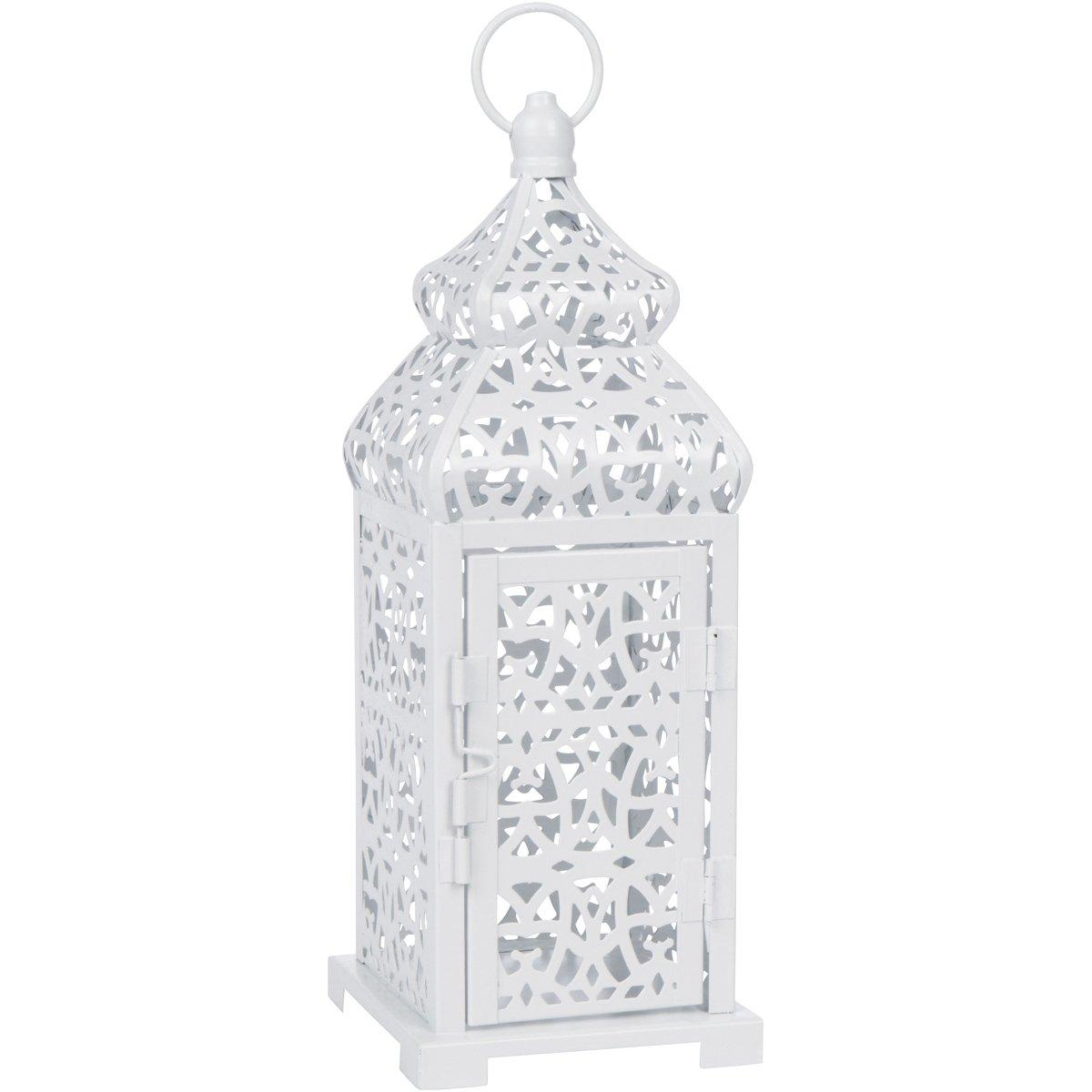 White Temple Moroccan Style Candle Lantern by Vela Lanterns