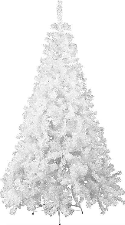 TIENDA EURASIA® Árbol de Navidad - Árboles de Navidad Artificiales - Soporte de Pie Metálico - Medidas 90-210 cm - Colores Verde y Blanco - Fácil Montaje - Embalaje en Caja (Blanco, 120CM): Amazon.es: Hogar