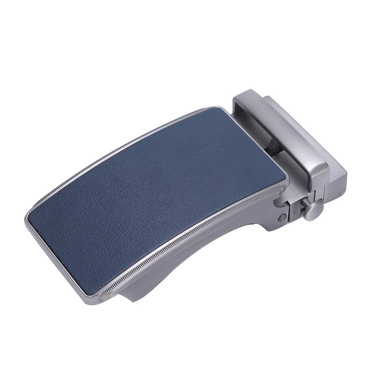 Famous Brand Belt Men Top Quality Genuine Luxury Leather Belts for Men Strap Male Metal Blue Leather Automatic Buckle Belts Men,3 B 42 for 17,115cm