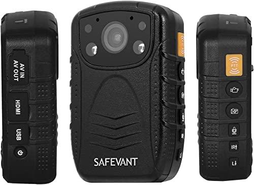 SAFEVANT 1296P HD Police Body Camera, Multi-Functional Body Worn Camera with 32GB Memory