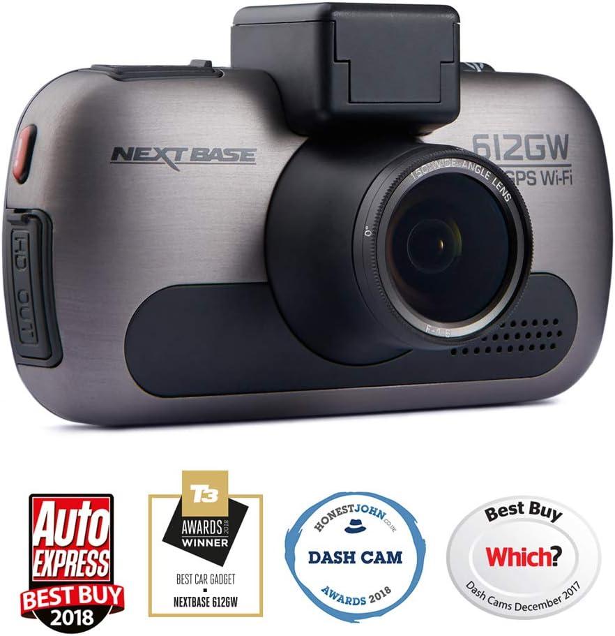 Nextbase 612GW - Appareil photo numérique embarqué ultra-haute résolution 4K - Appareil-photo de tableau de bord - Noir