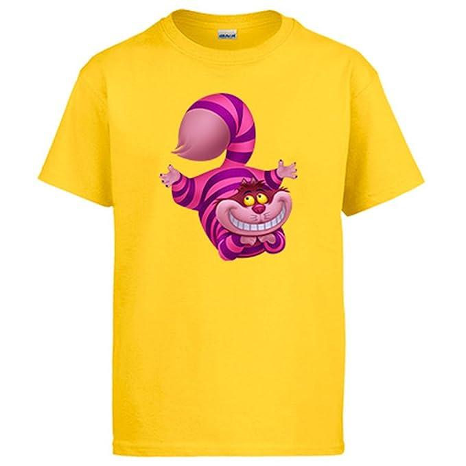 Diver Camisetas Camiseta El Gato Risón de Cheshire Alicia Y El País De Las Maravillas: Amazon.es: Ropa y accesorios