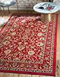 Unique Loom Kashan Collection Red 8 x 10 Area Rug (8' x 10')