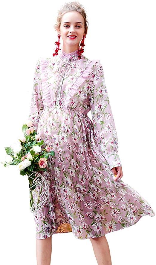 Yijiayu Vestido de Maternidad Estiramiento Suave Falda Larga ...