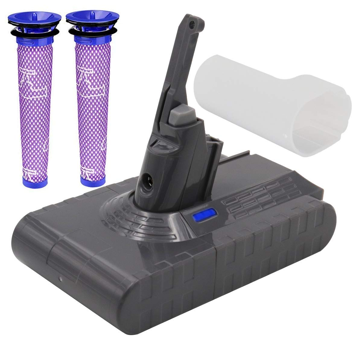 Dyson Battery Replacement - (Upgraded 3600mAh 21.6V) Dyson Battery Dyson V8 Battery Replacement With Filter Compatible for Dyson V8 Absolute Cord-Free Vacuum Cleaner (Not Fit Dyson VC10 fluffy)