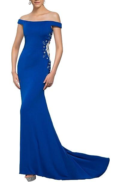 Poplarboy - Vestido - Sin tirantes - para mujer azul cobalto 38