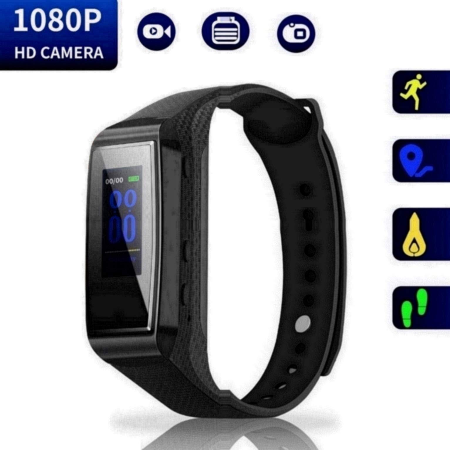 Hidden Camera Bracelet HD Mini Camcorder - Larger Display Version Spy Camera 1080p Wirst Band Sports Spycam LKcare Lens-Shielded Surveillance DVR with Tracker Function by LKcare
