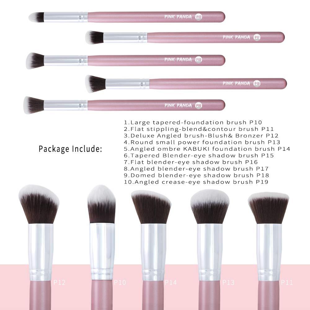 c982ce8910f0 PINKPANDA Makeup Brushes 10 Pcs Sakura Pink Professional Make up Brushes  Set Premium...
