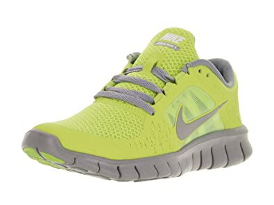 wholesale dealer 242c7 a9902 Nike Free Run 3 (GS) Big Kids Running Shoes Cyber Reflective Silver-
