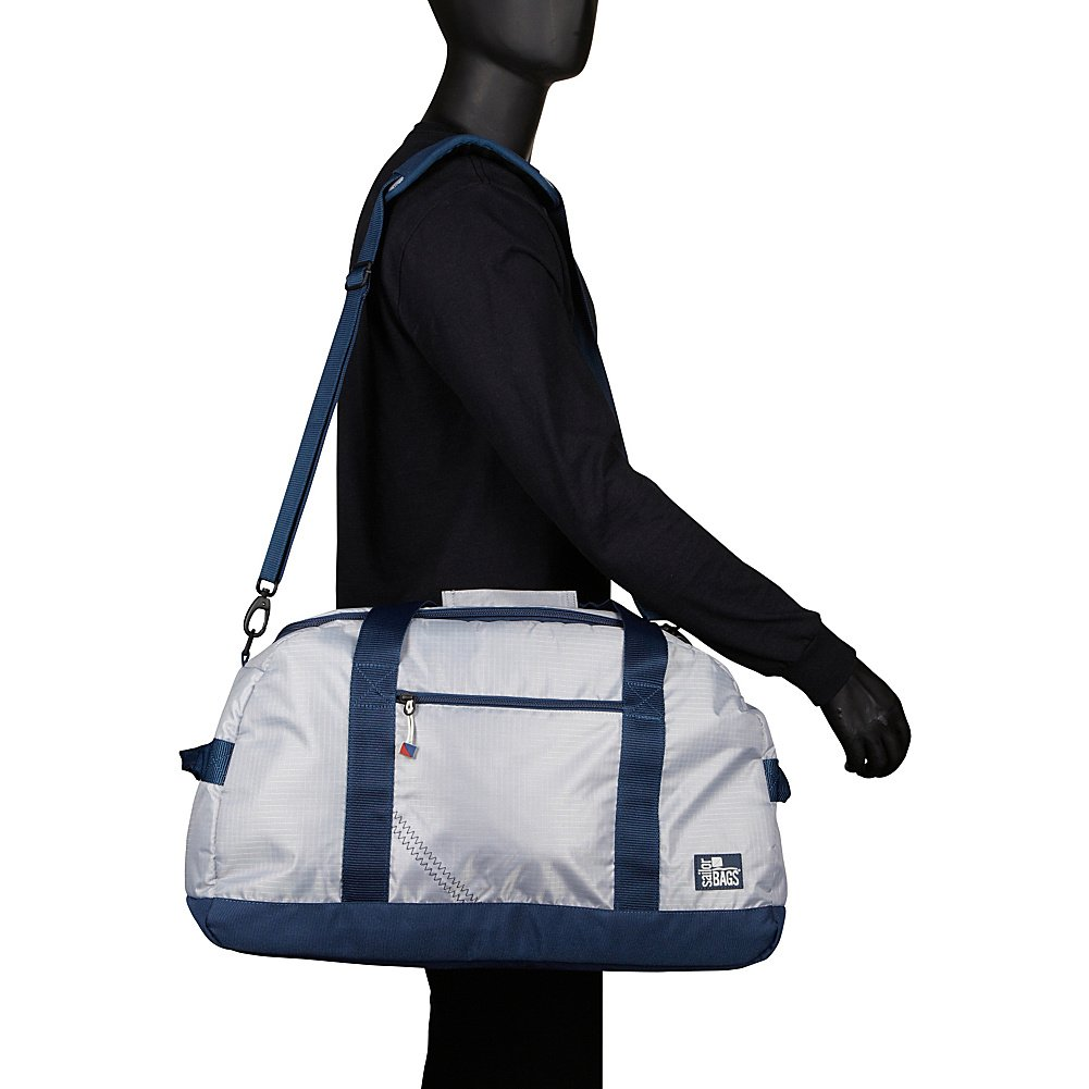 Silver with Blue Trim SailorBags Silver Spinnaker Racer Duffel