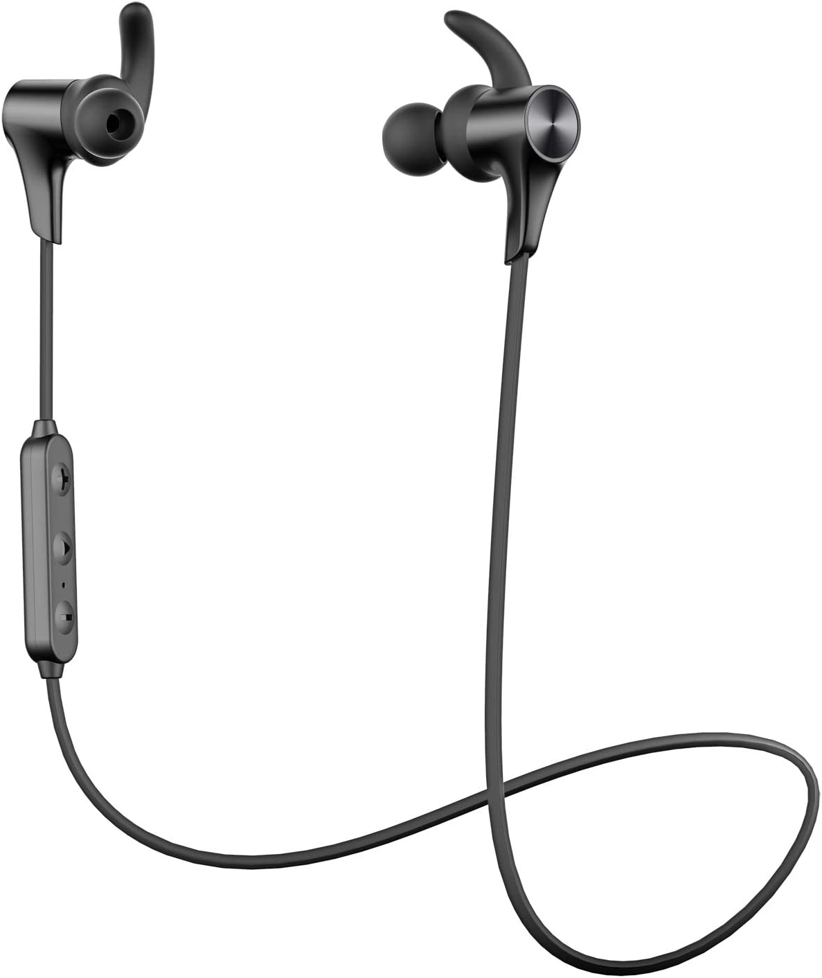 SoundPEATS 【Nuevo Versión Q12 HD】 Auriculares Bluetooth 5.0 Inalámbrico Magnéticos, Cascos Deportivos IPX6 Impermeable con Mic In Ear Incorporado Estéreo, Duración 9 Horas para iOS Android PC (Negro)