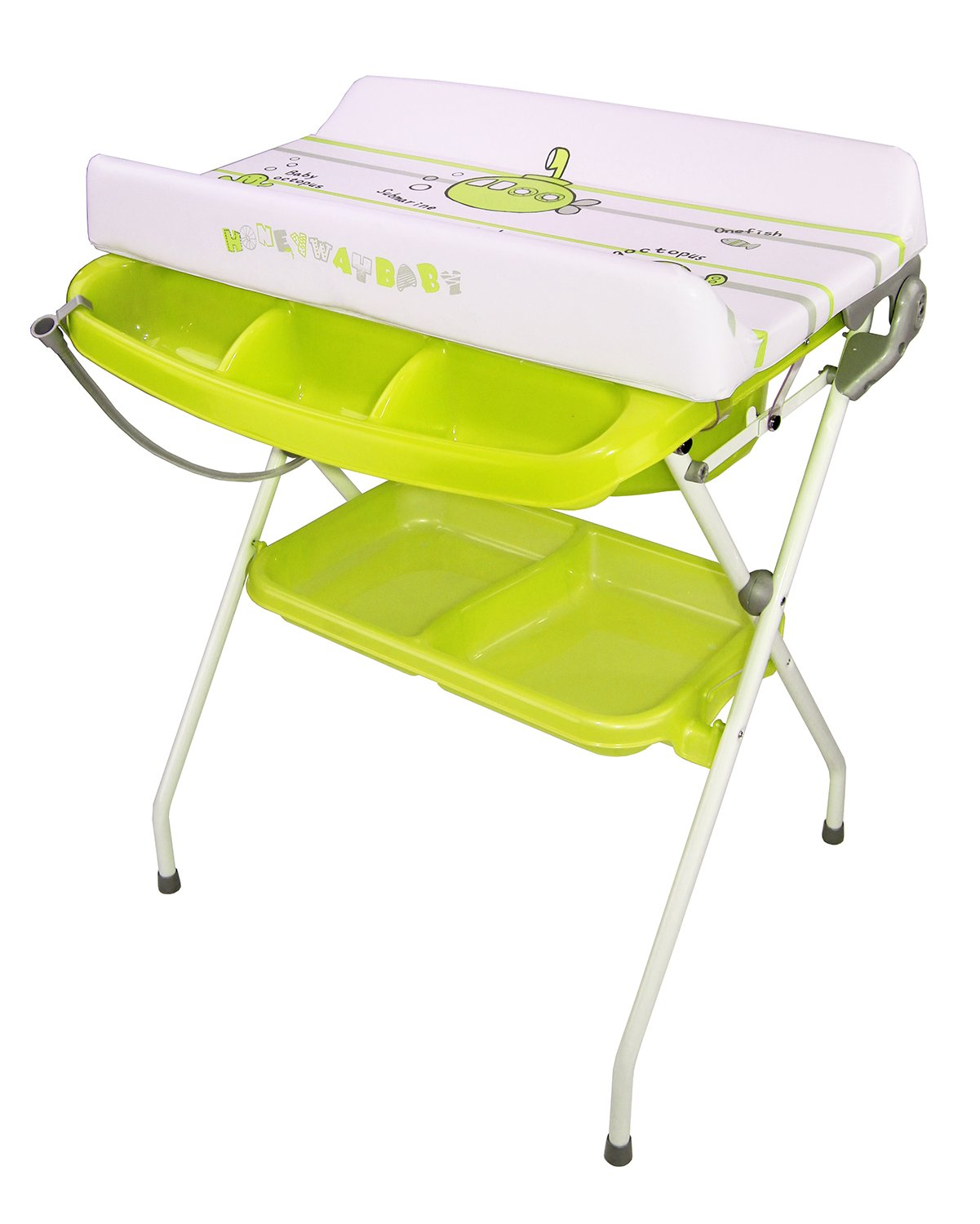 Amazon.com : Deluxe Baby Baby Bath U0026 Changing Table Combo Green Folding New  : Baby Bathing Seats And Tubs : Baby