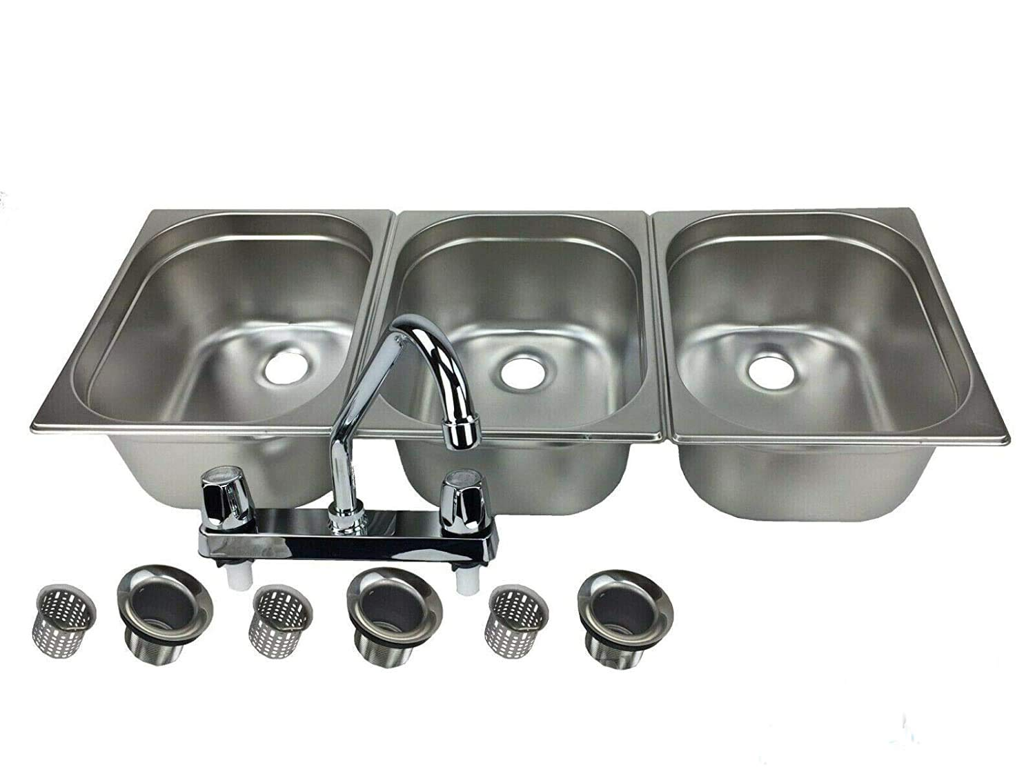 Concession Sink 3 Large Compartment Stand Food Truck Trailer