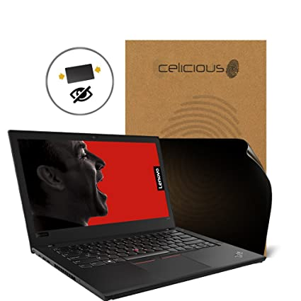 Celicious Privacy 2-Way Anti-Spy Filter Screen Protector Film Compatible  with Lenovo ThinkPad T480 (Touch)