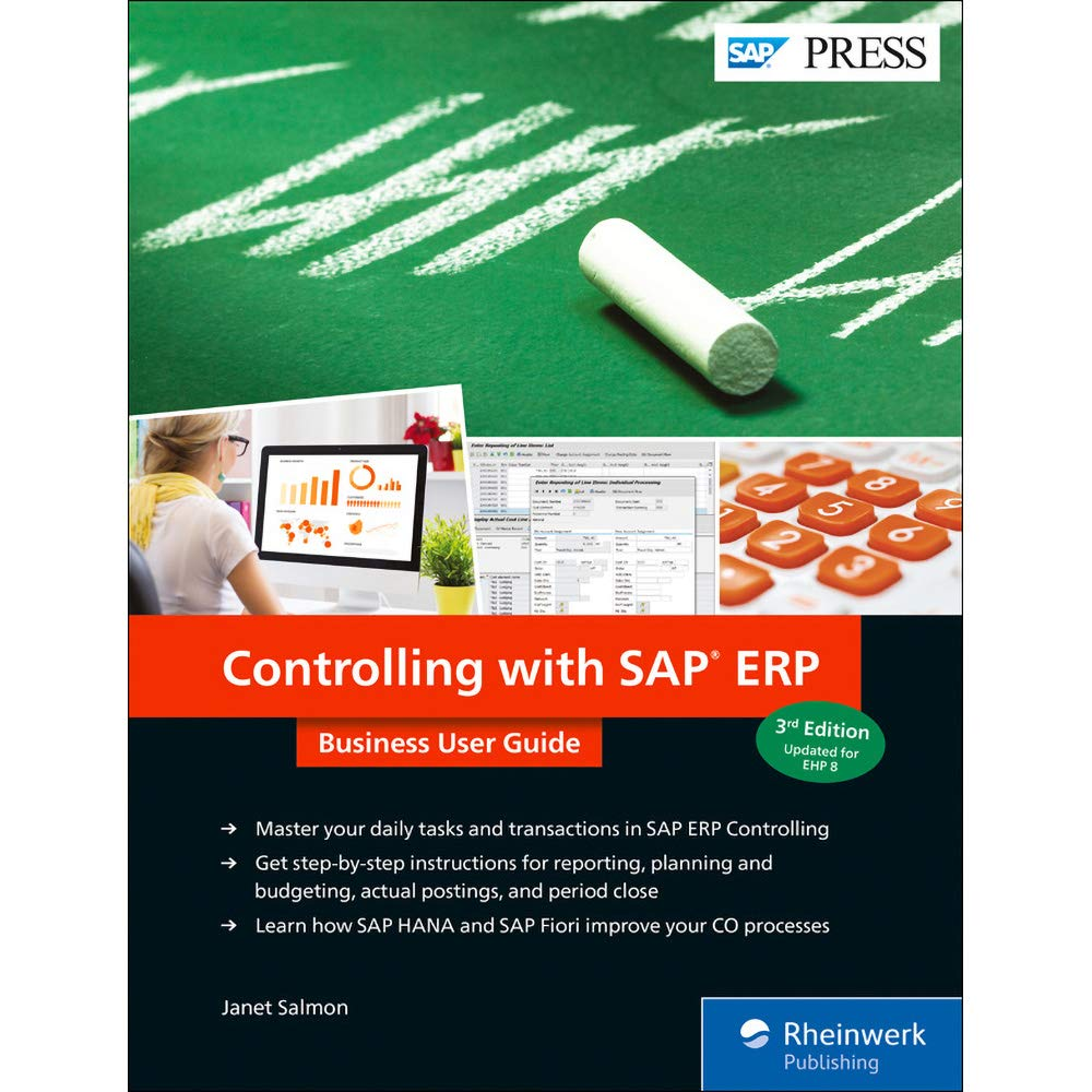 Amazon Com Sap Controlling Sap Co In Sap Fico Business User Guide 3rd Edition Sap Press 9781493217366 Janet Salmon Books
