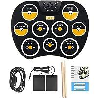 Elektro Schlagzeug, E Drum Set, 9 Pad Schlagzeug Kinder, Berühren Sie Empfindlichkeit, Schlagzeug mit Schlagzeugstock, Fußpedalen, Elektronische Trommel für Kinder, Anfänger