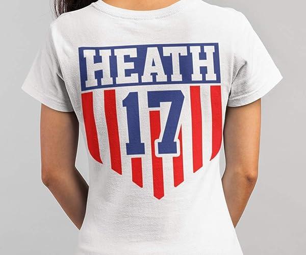 low priced 34a33 8cf2f Amazon.com: Heath No. 17 Soccer Women America Champions 2019 ...